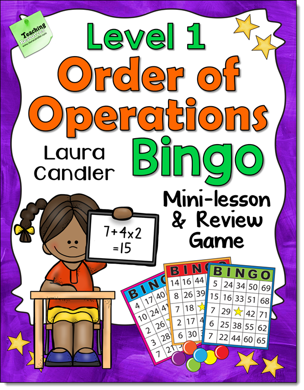 Order of Operations Bingo Level 1