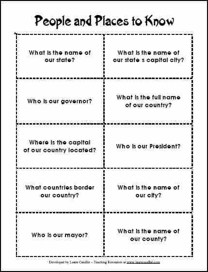 4th grade social studies printable worksheets free