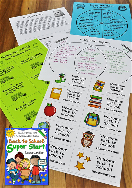 Back to School Super Start from Laura Candler is packed with printables and activities to get your year off to a great start!