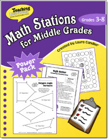 Math Stations for Middle Grades by Laura Candler