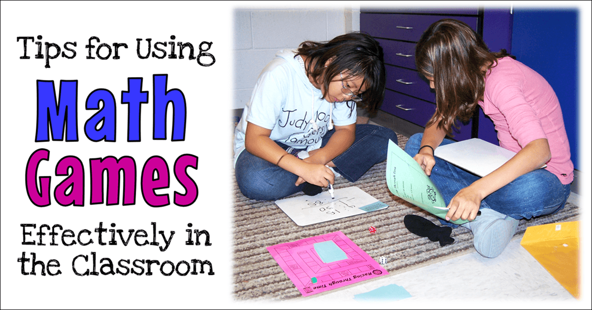 Tips for Teaching with Math Games