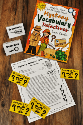 Mystery Vocabulary Detective game from Laura Candler - Fun way to practice vocabulary in any subject area!