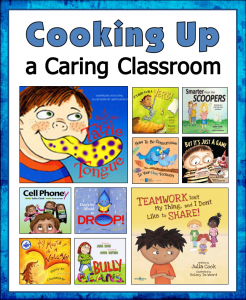 "Kids love Julia Cook's books, and they're great for reading aloud during class meetings to help your students deal with issues like bullying, getting along with others, grief, and  friendship problems. Download a free ""Title and Topics Checklist"" to help you find the right Julia Cook book for each social skills topic you want to address."
