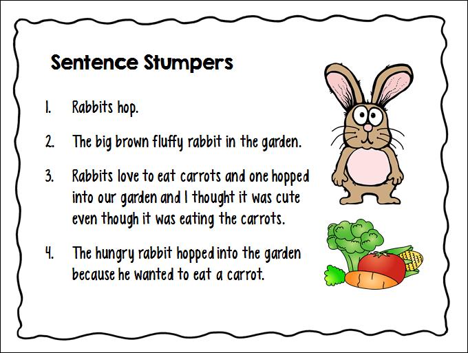 3rd grade sentences examples