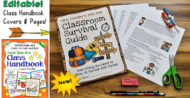 A class handbook is a great way to share your classroom guidelines, explain your policies and procedures, and communicate with parents. These editable classroom handbook files and templates from Laura Candler make it easy to create a class handbook that rocks!