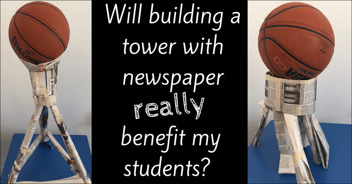 This Is The Newspaper Tower Bayley And I Built Design Was Based Of Paper Stage