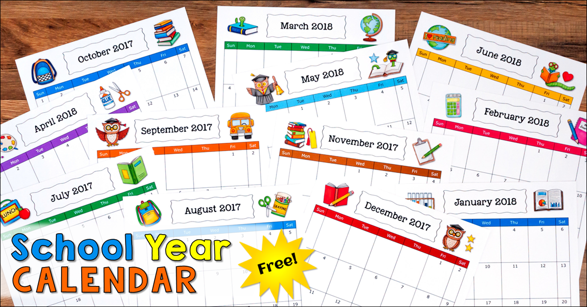 Grab Your Free School Year Calendar!