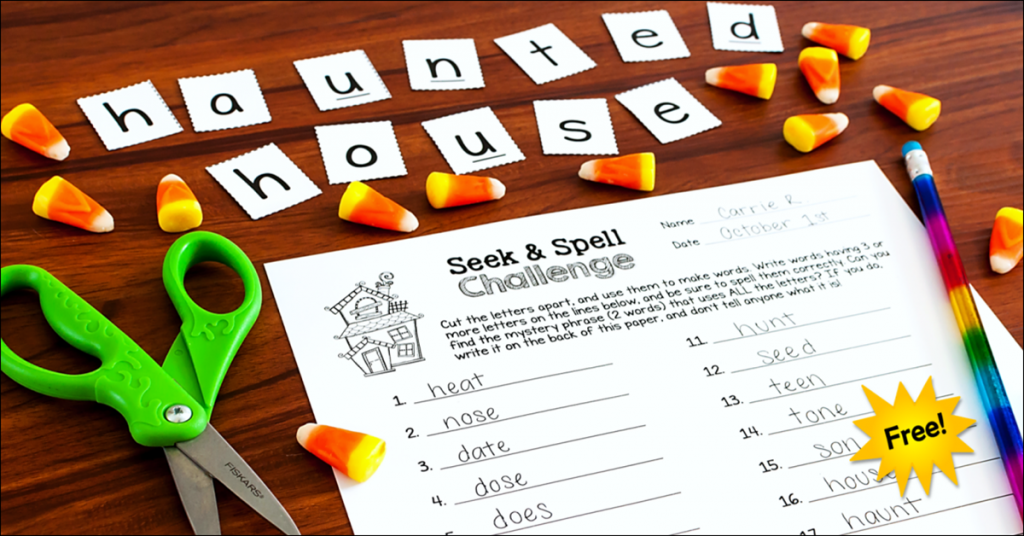 photo about Printable Spell Templates named Halloween Term Perform Find Spell Exciting!