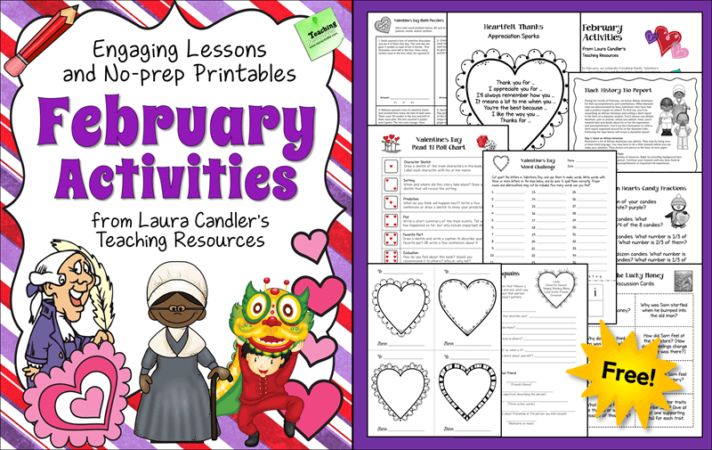 Free February Activities Pack from Laura Candler