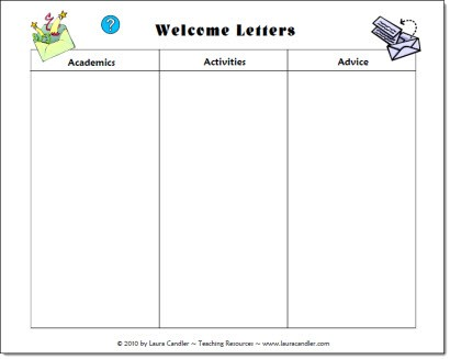 Welcome Letter Planning Page freebie