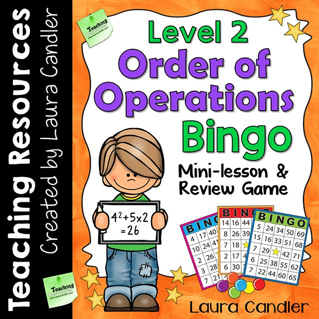 image regarding Order of Operations Game Printable titled Well-liked Main Goods