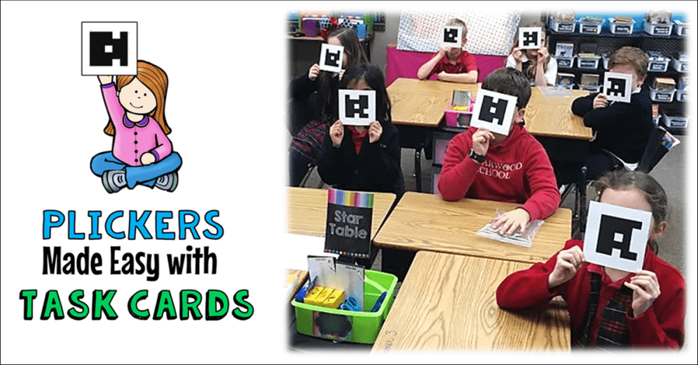 photo regarding Printable Task Cards titled Plickers Built Straightforward with Endeavor Playing cards