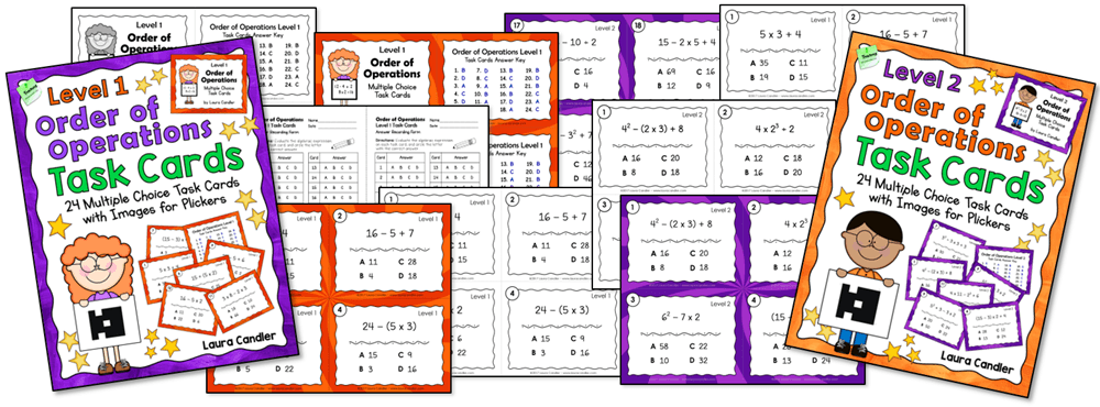 Order of Operations Task Cards Bundle from Laura Candler