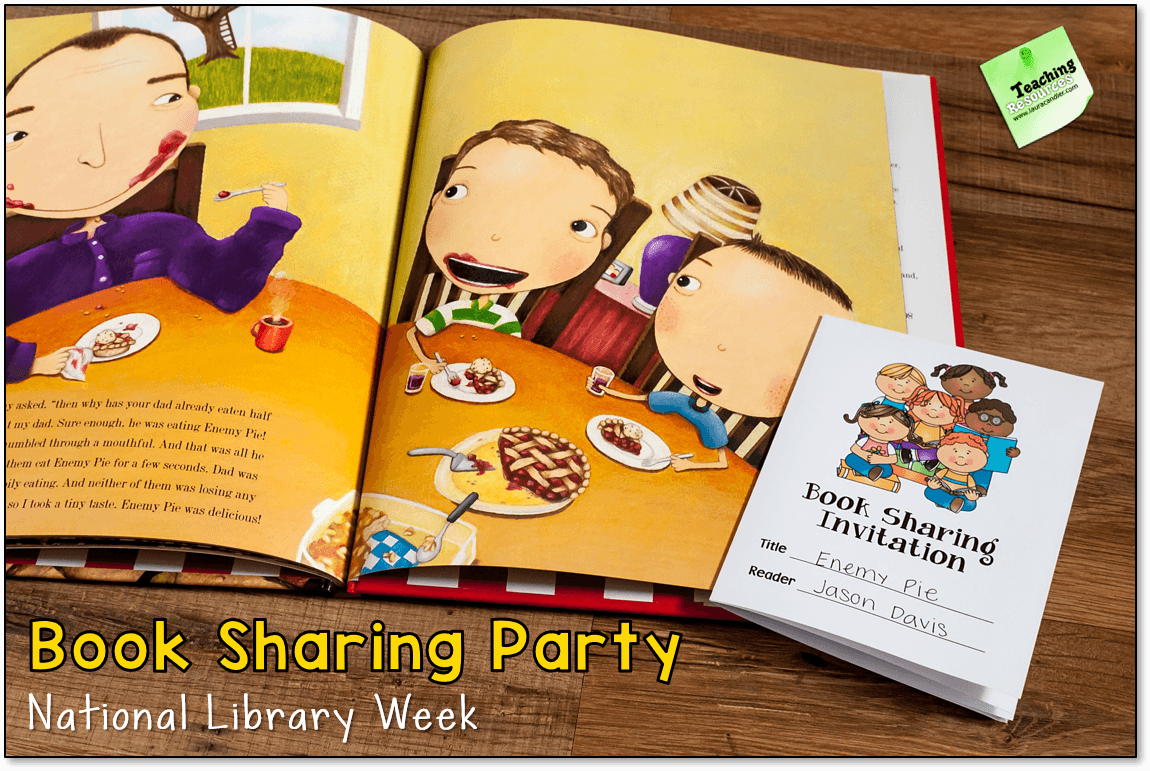 Book Sharing Invitation in the April Activities Pack