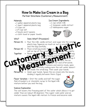 How to Make Ice Cream in a Bag Freebie