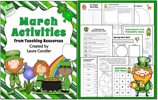 March Activities from Laura Candler: Lessons, activities, and ready-to-use printables