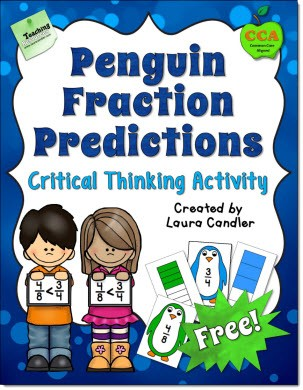 Free Comparing Penguin Fractions Activity