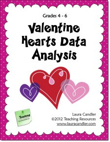 Free Valentine Hearts Data Analysis Lesson
