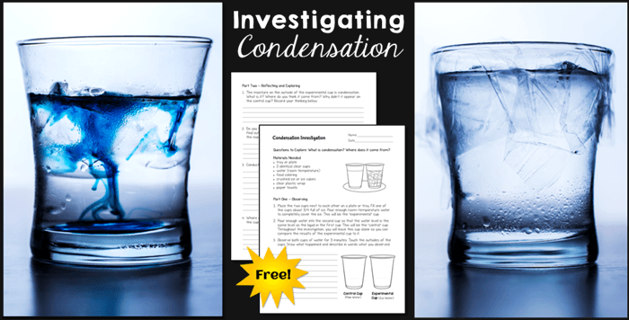 Download a free Condensation Investigation Acitivity.