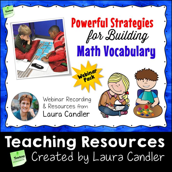 Math Vocabulary Building Webinar Pack