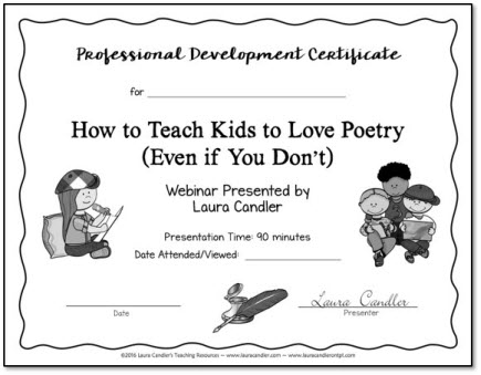 How to Teach Kids to Love Poetry PD Certificate