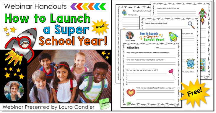 How to Launch a Super School Year Free Webinar Handouts
