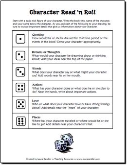 Character Read and Roll Activity