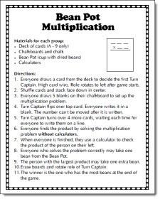 Bean Pot Multiplication freebie