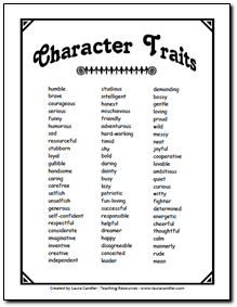 character traits