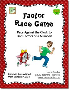 photo about Factor Game Printable called Laura Candlers Training Elements: Math Facilities and Stations