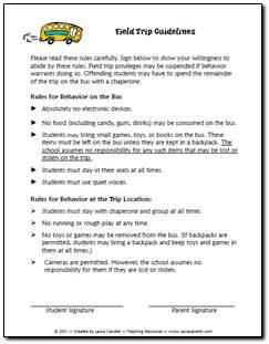Field Trip Guidelines