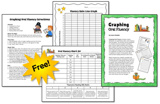 Graphing Oral Fluency Freebie from Laura Candler