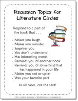 image regarding Printable Book Club Questions named No cost Printables for Literature Circles