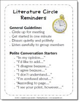 Literature Circles Reminders