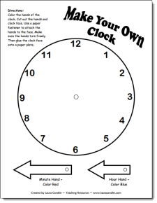 Time and measurement teaching resources make your own clock ibookread