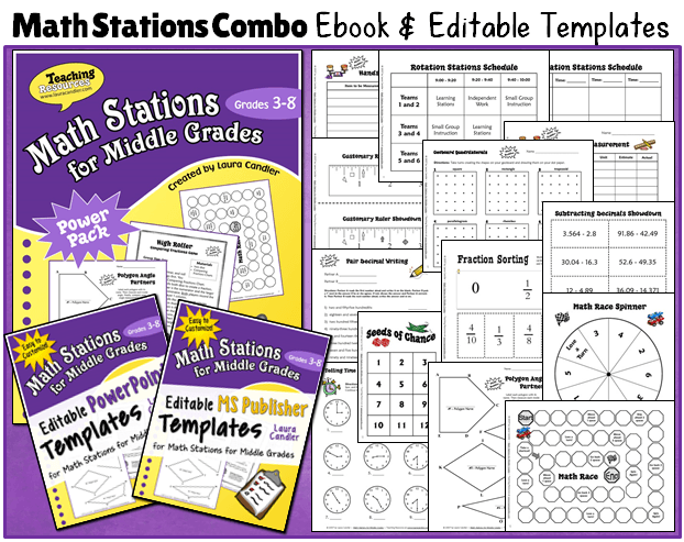 Laura candlers teaching resources math centers and stations math stations combo ebook templates fandeluxe Images