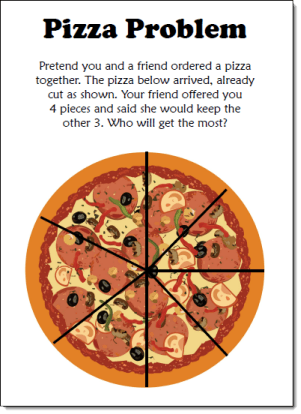 Pizza Fraction Fun Freebie