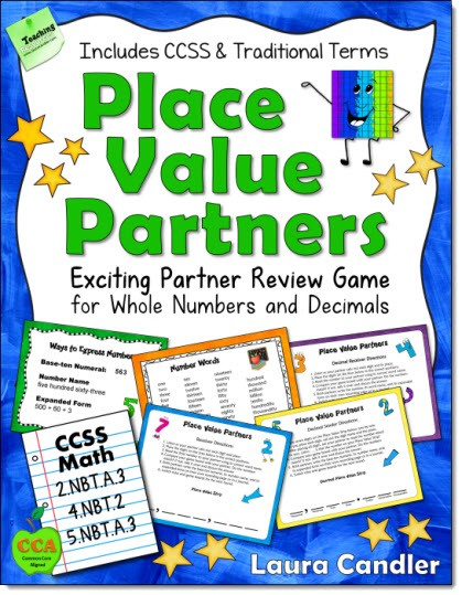 image regarding Printable Place Value Game identified as Laura Candlers Components for Training Complete Quantities