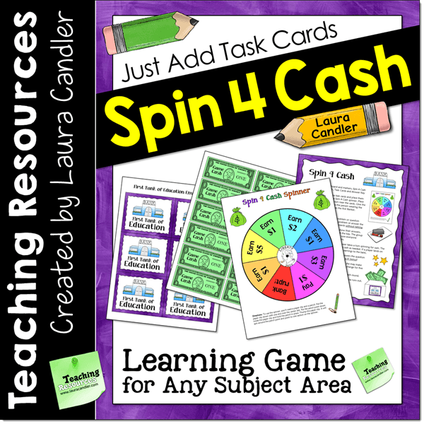 Spin 4 Cash Game for Task Cards