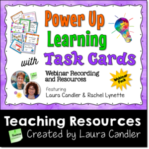 Power Up Learning with Task Cards