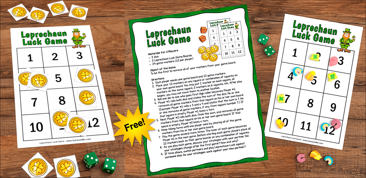 Leprechaun Luck Free Math Game
