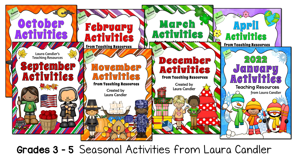 Seasonal Activity Packs from Laura Candler